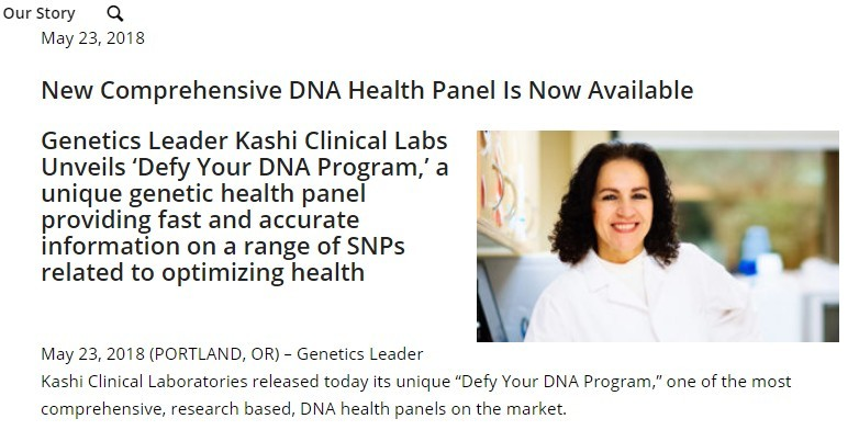 kashi labs dna panel