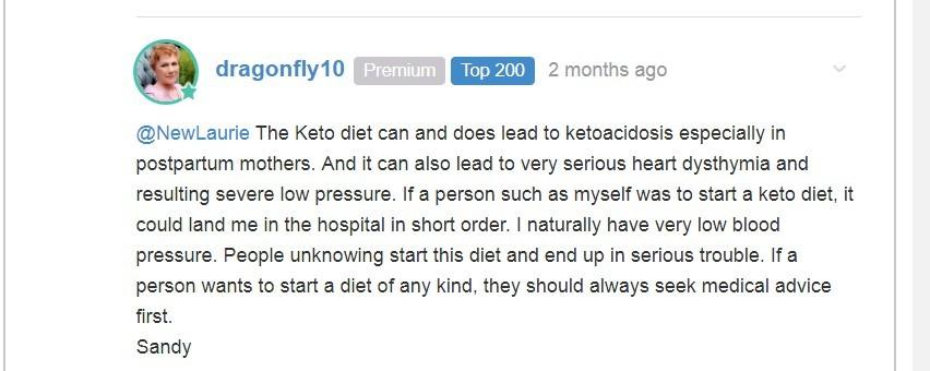 nurse speaks out on keto after death