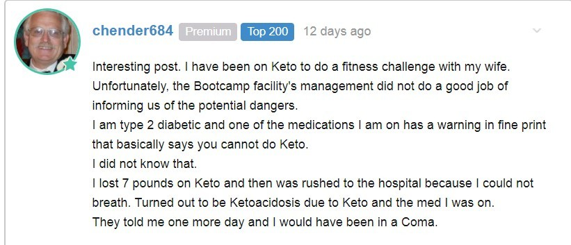 keto fitness challenge nearly killed