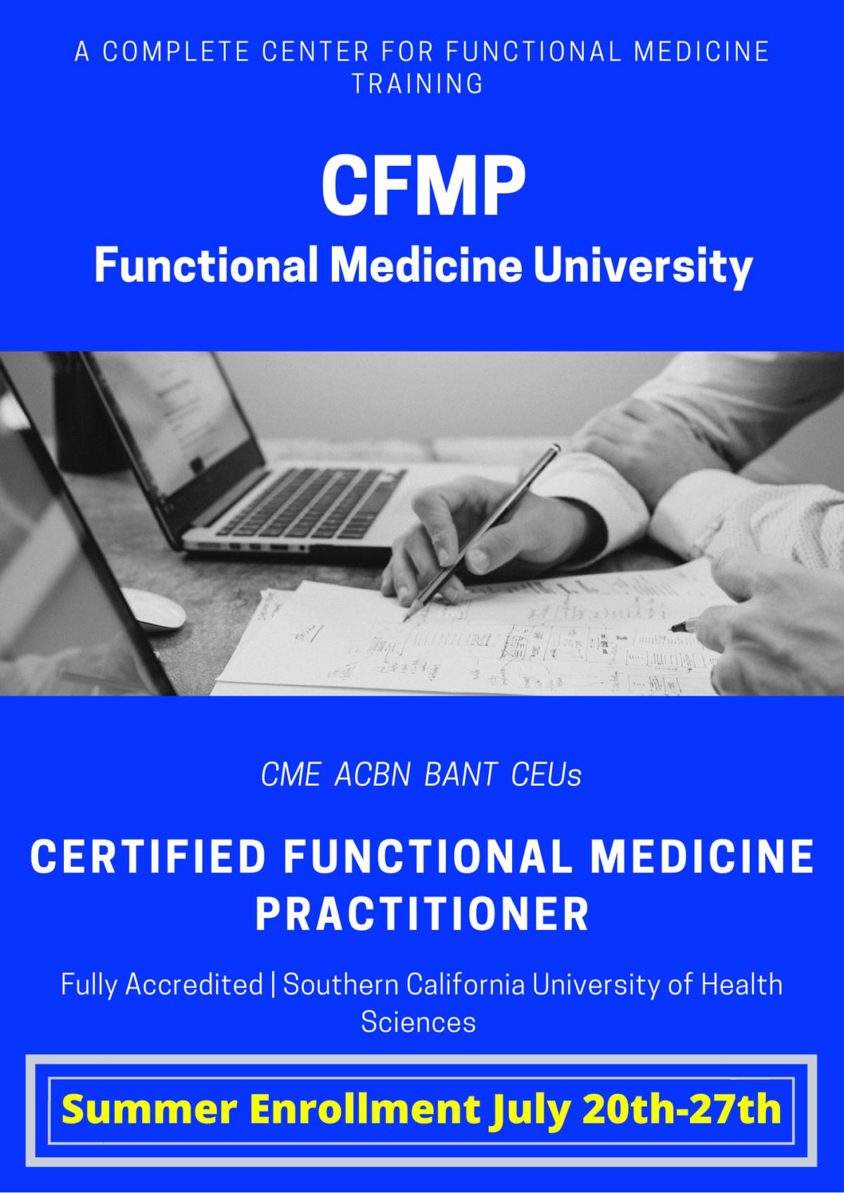 Functional Medicine University CFMP Summer Enrollment 2020