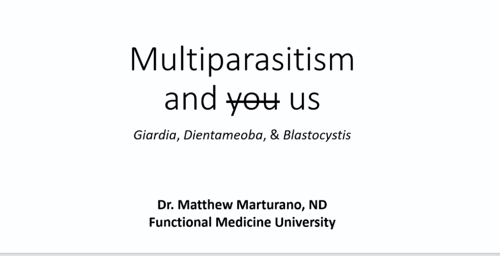 parasites and multiparasitism matt marturano webinar for FMU