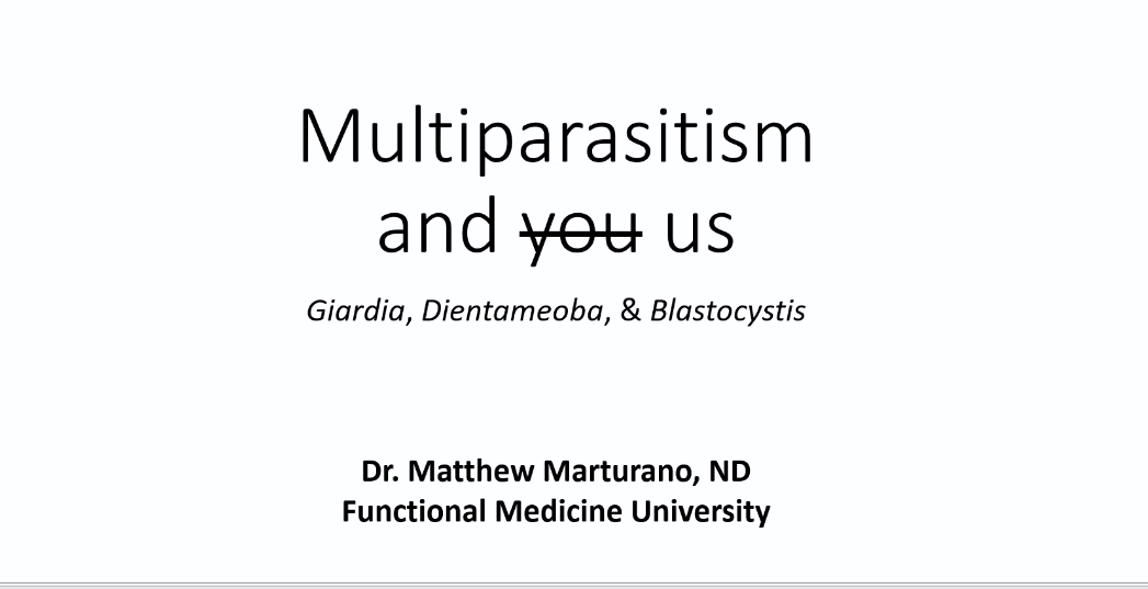 parasites and multiparasitism matt marturano webinar for FMU