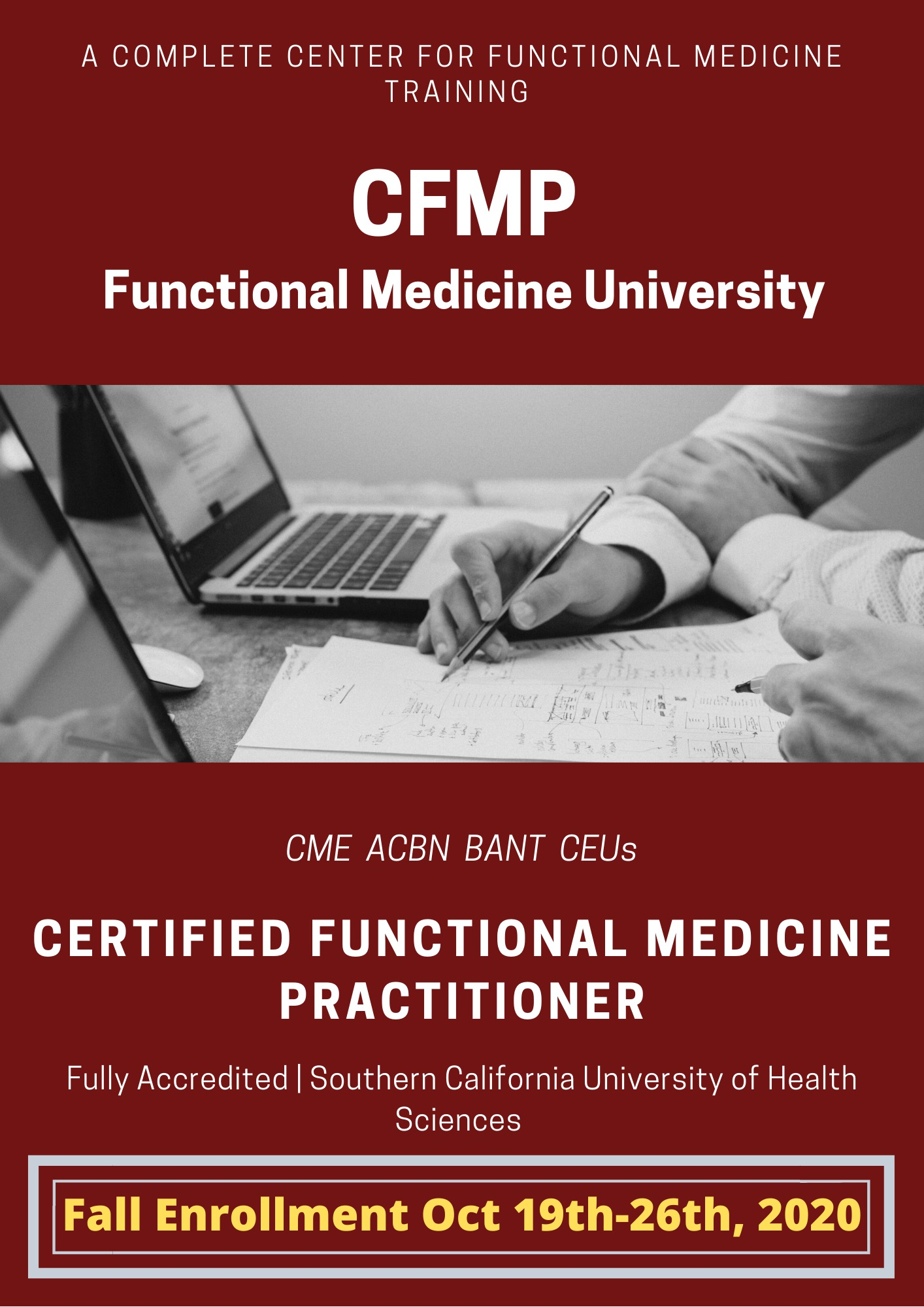 functional medicine university fall enrollment autumn 2020 october