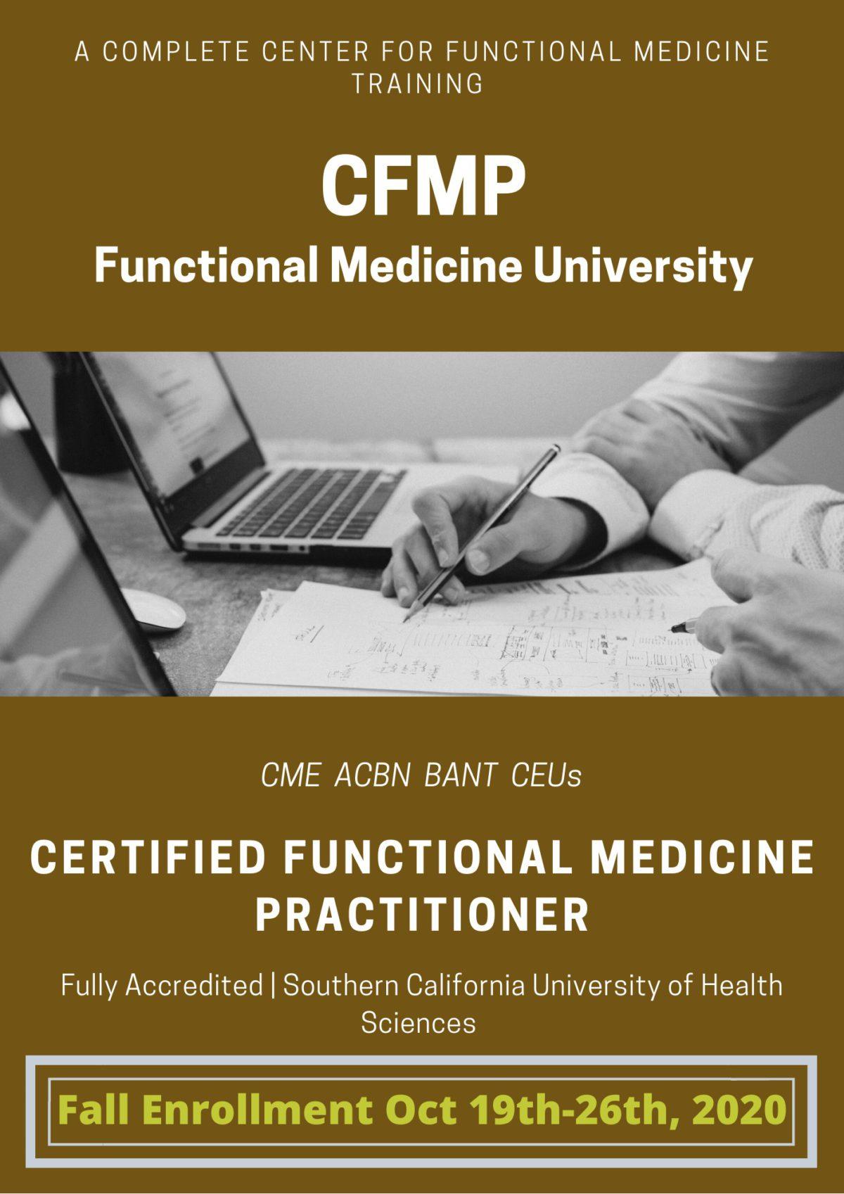 FMU Fall Enrollment for the CFMP Certified Functional Medicine Practitioner