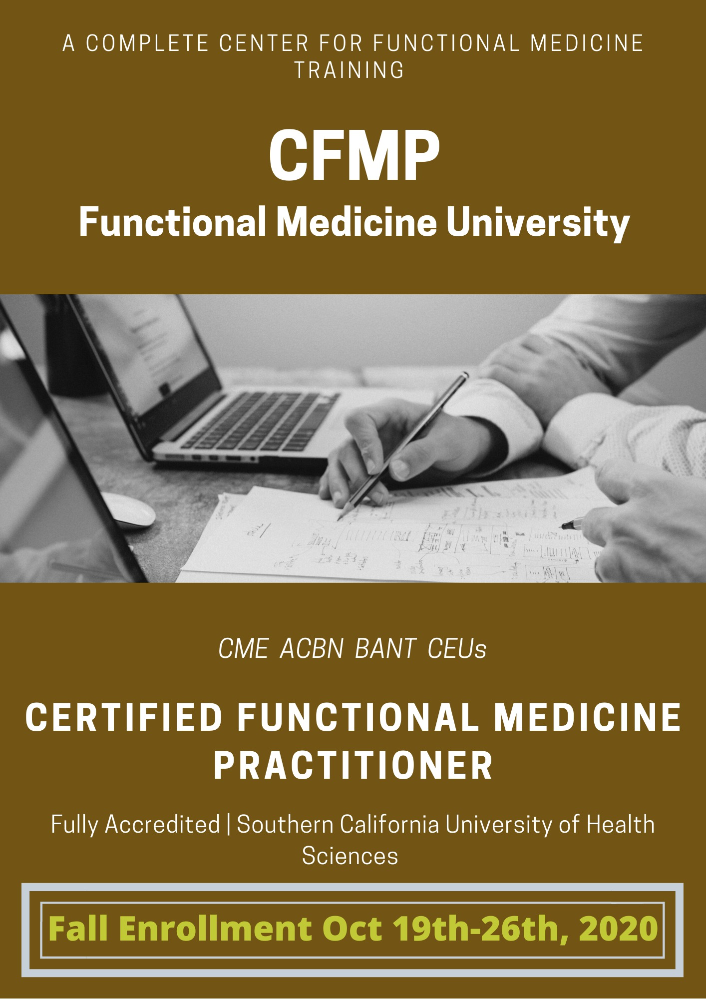 Fall enrollment oct 19th-26th 2020 functional medicine university certified functional medicine practitioner
