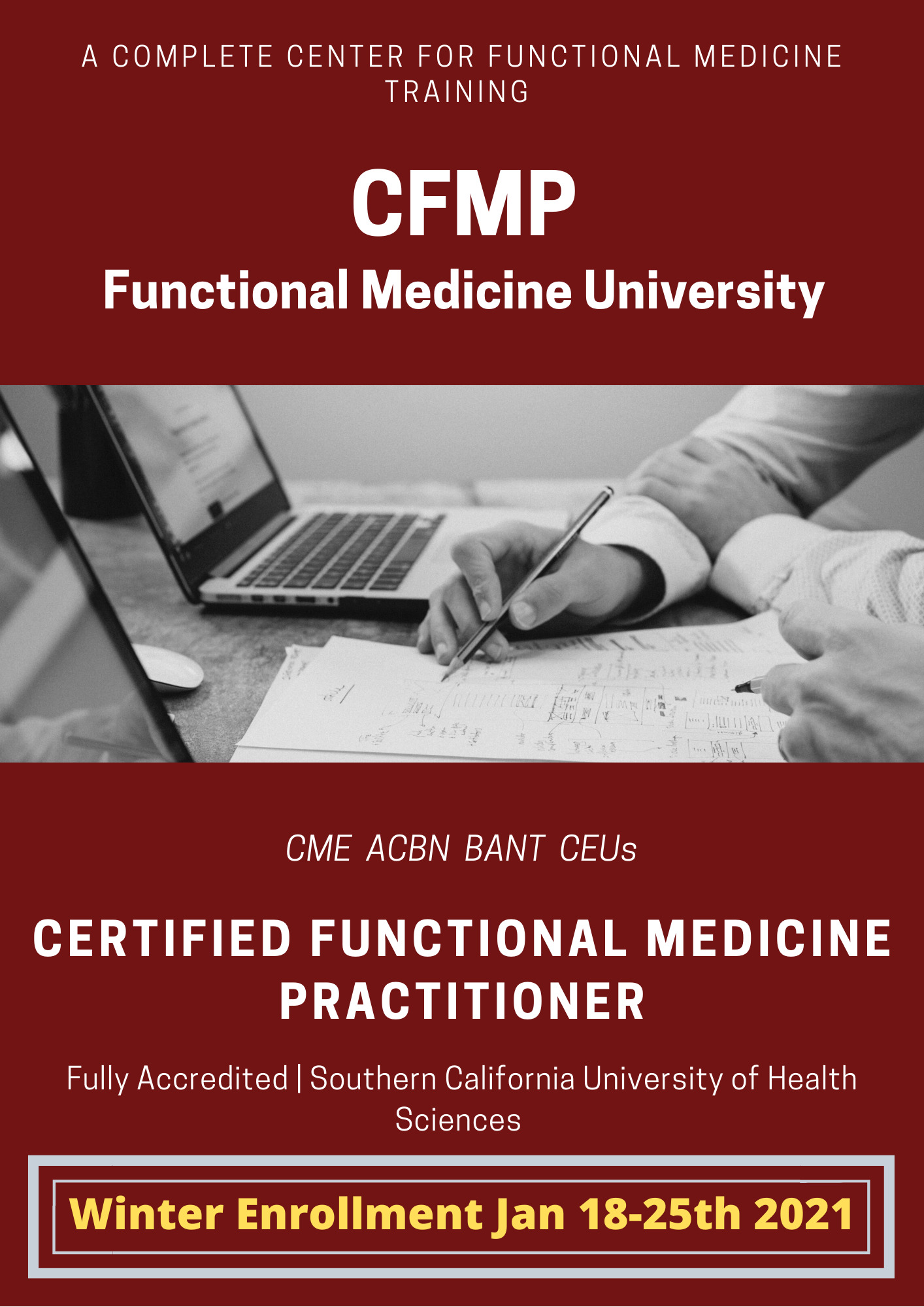 winter enrollment functional medicine university Jan 2021 CFMP