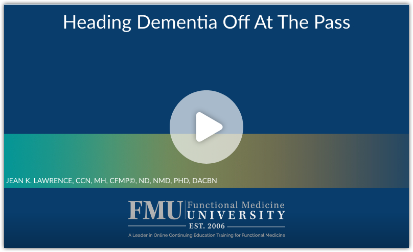 Dr Lawrence talk for FMU on Dementia