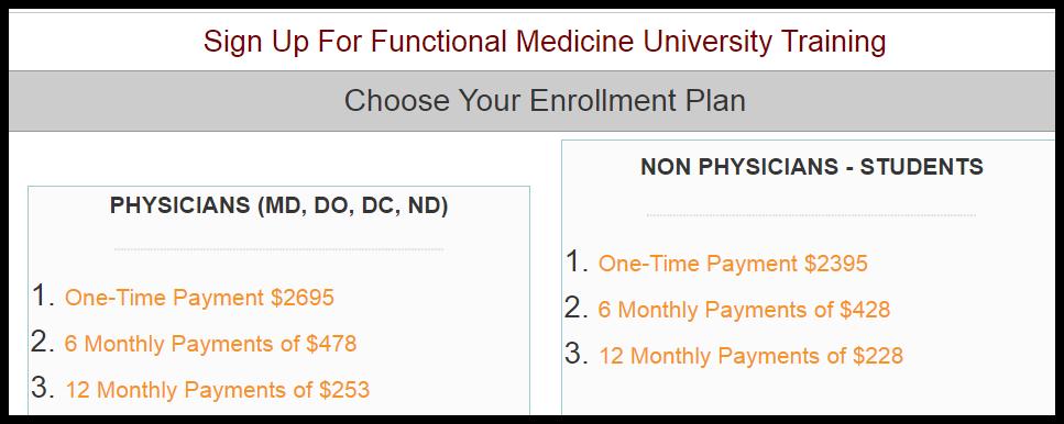 functional medicine cfmp course fees